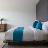 Bedroom at Bayside villa 6. A luxury and private 5 bedroom ocean view villa overlooking Samrong Bay, Koh Samui, Thailand