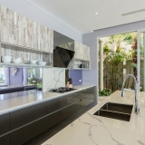 Kitchen at Bayside villa 6. A luxury and private 5 bedroom ocean view villa overlooking Samrong Bay, Koh Samui, Thailand