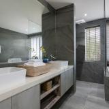 Bathroom at Bayside villa 4. A luxury and private 6 bedroom ocean view villa overlooking Samrong Bay, Koh Samui, Thailand