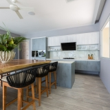 Kitchen at Bayside villa 4. A luxury and private 6 bedroom ocean view villa overlooking Samrong Bay, Koh Samui, Thailand